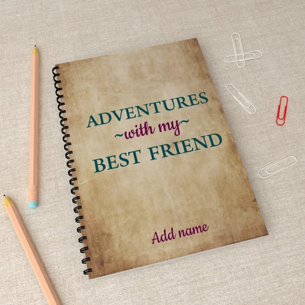 Personalized Adventure Notebook for Friend