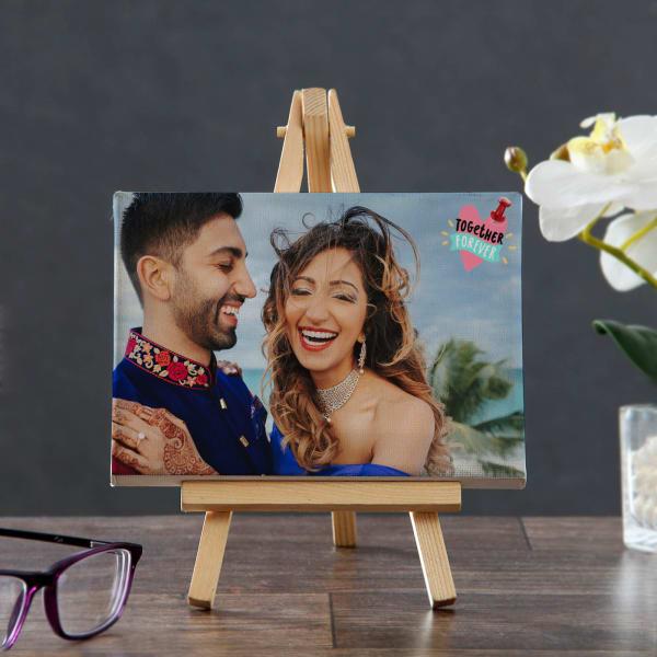 Personalized Anniversary Photo Canvas