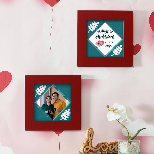 Personalized Anniversary Wooden Frame Set