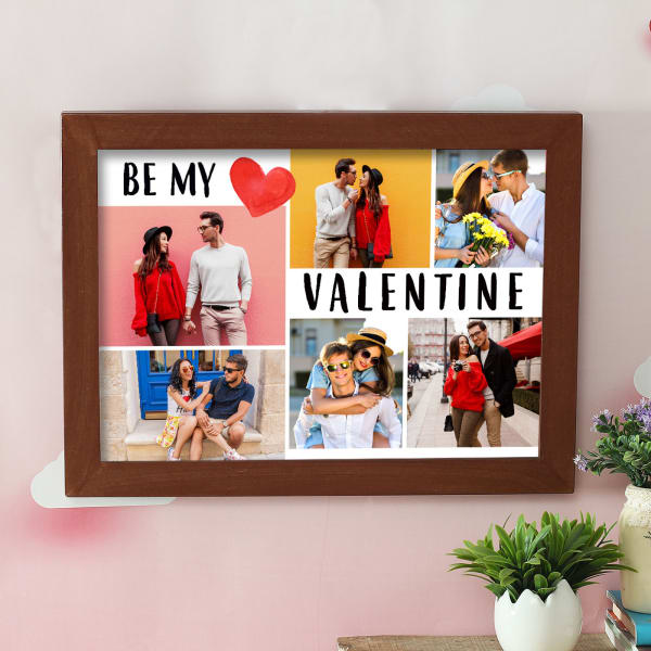 Personalized Be My Valentine Wooden Photo Frame