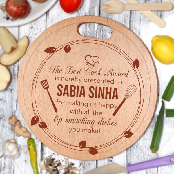 Personalized Best Cook Wooden Chopping Board