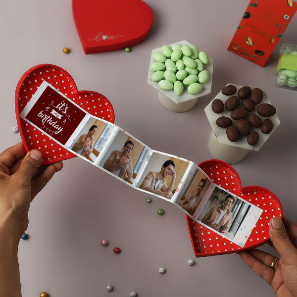 Personalized Birthday Heart Pop-Up Box With Treats