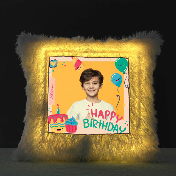 Personalized Birthday LED Pillow for Boys