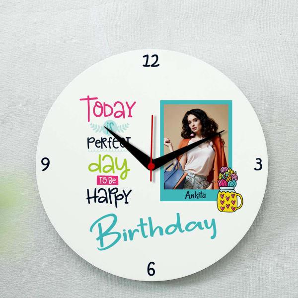 Personalized Birthday Photo Clock