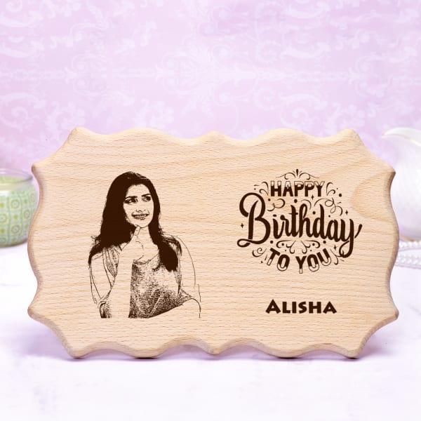 Personalized Birthday Wooden Photo Frame