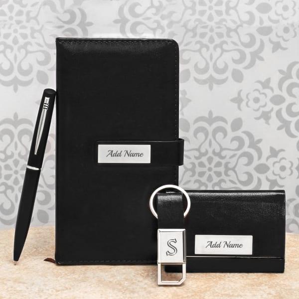 Personalized Black Desk Accessory Gift Set