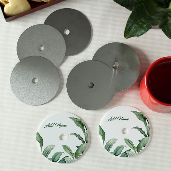 Personalized Botanical Coasters (Set of 8)