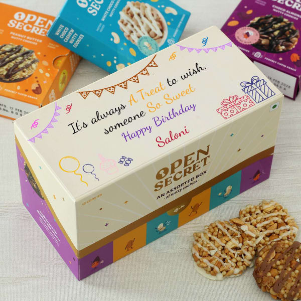 Personalized Box of Cookies for Birthday (12 Pcs)