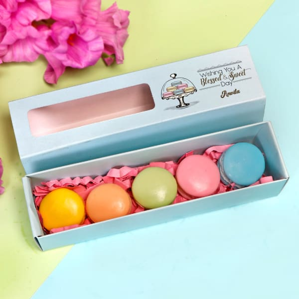 Personalized Box of Macaron Soaps - Set of 5