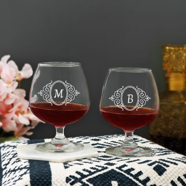 Personalized Brandy Glasses (Set of 2)