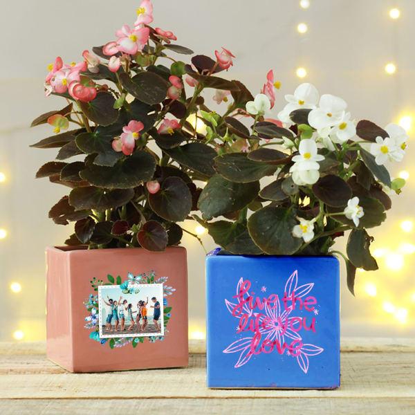 Personalized Ceramic Planter Set