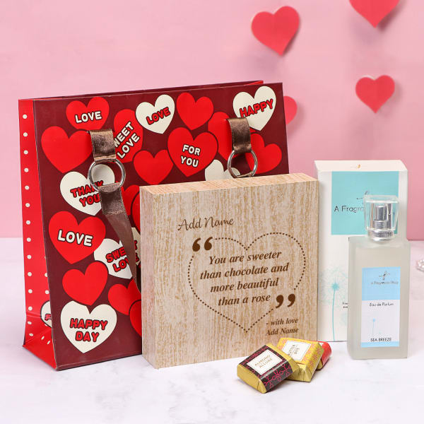 Personalized Chocolate Box with Perfume
