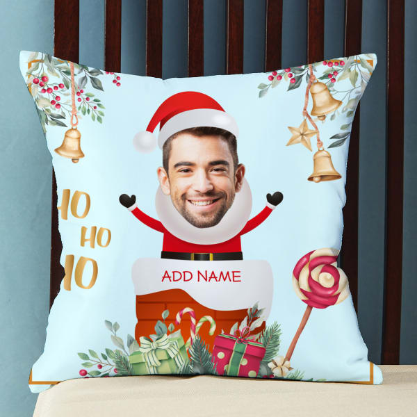 Personalized Christmas Santa Cushion with Filler