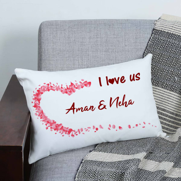 Personalized Couple Love Canvas Pillow