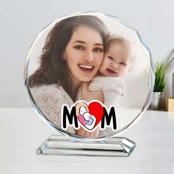 Personalized Crystal Photo Stand for Mom