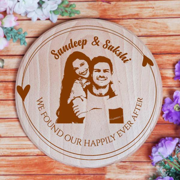 Personalized Designer Wooden Circular Name Plate