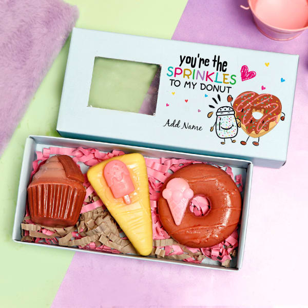 Personalized Dessert Soap Box- Set of 3