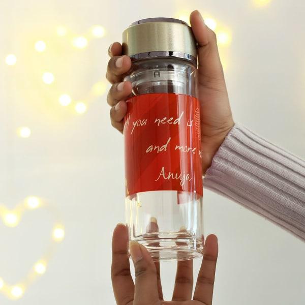 Personalized Detox Glass Bottle