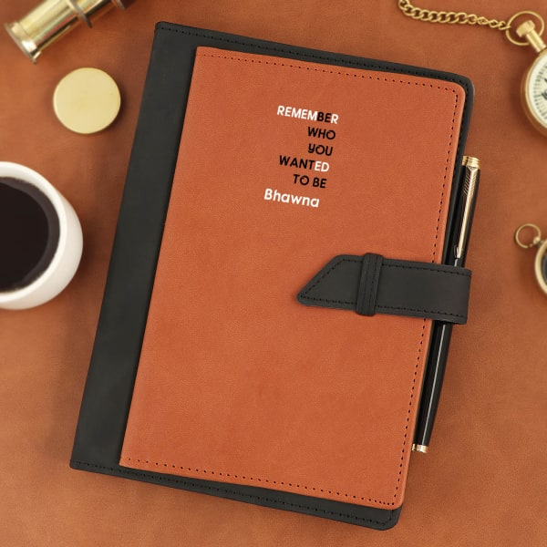 Personalized Diary With Card Holder And Pocket