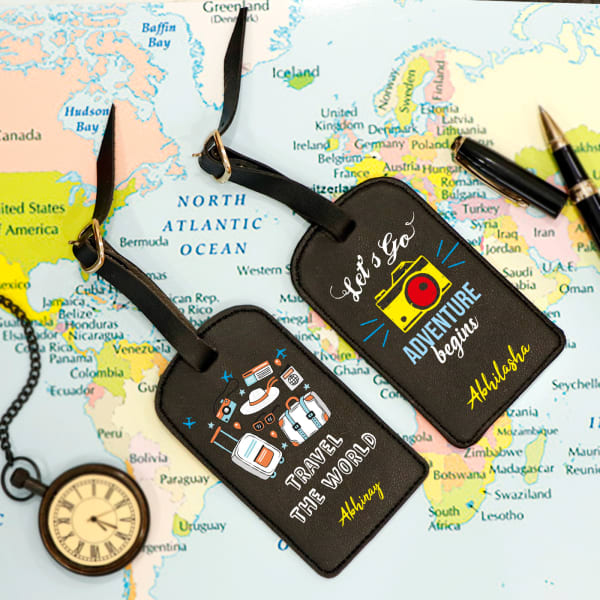 Personalized Faux Leather Luggage Tags (Set of 2)