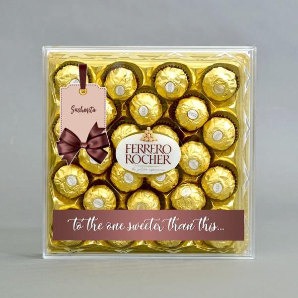 Personalized Ferrero Rocher Chocolates 24 Pcs