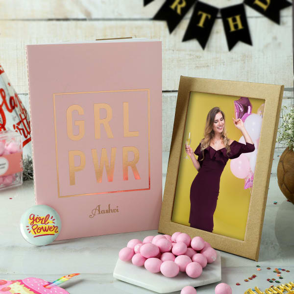 Personalized Frame and Notebook Birthday Set For Women