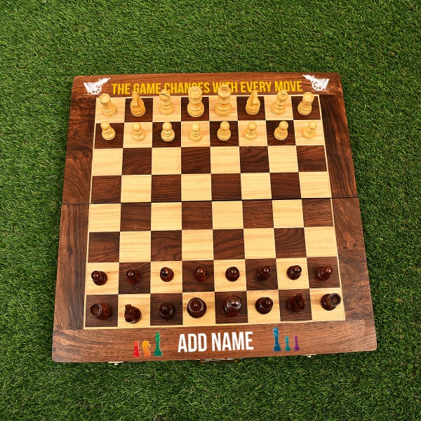 Personalized Game Changes Wooden Chess Board