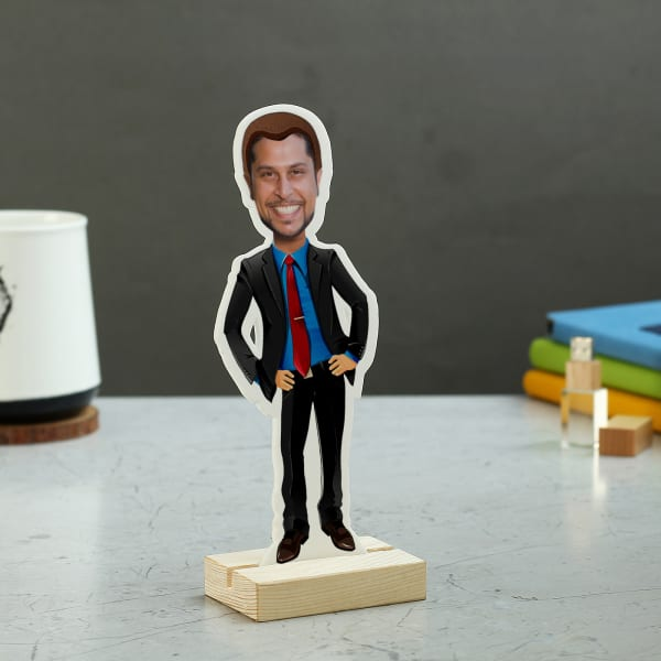 Quirky Gifts Happy Home Decor Now Online In India: Personalized Gentleman Caricature: Gift/Send Home And