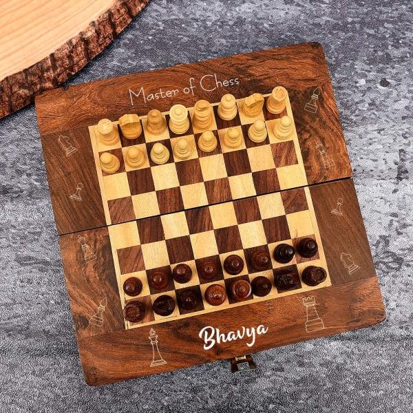 Personalized Handmade Sheesham Wood Chess