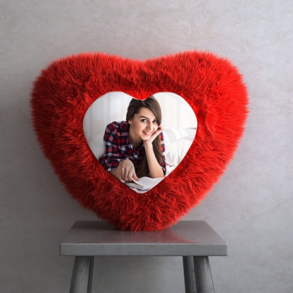 Personalized Heart Shaped Cushion
