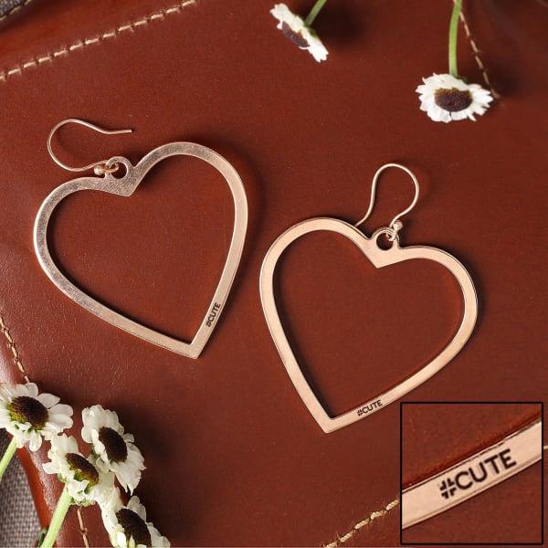 Personalized Heart Shaped Hoop Earrings