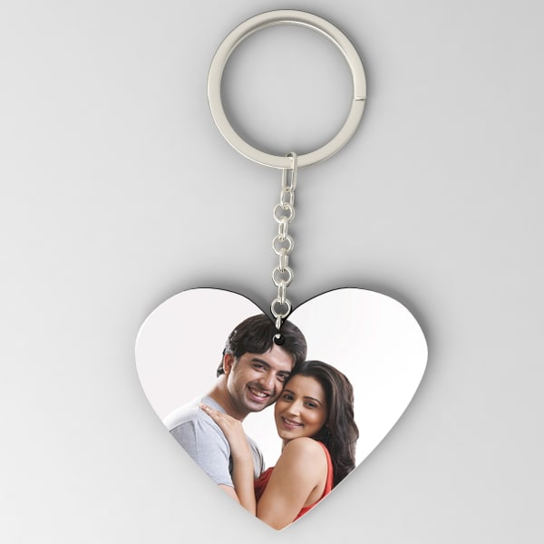 Personalized Heart Shaped Key Chain
