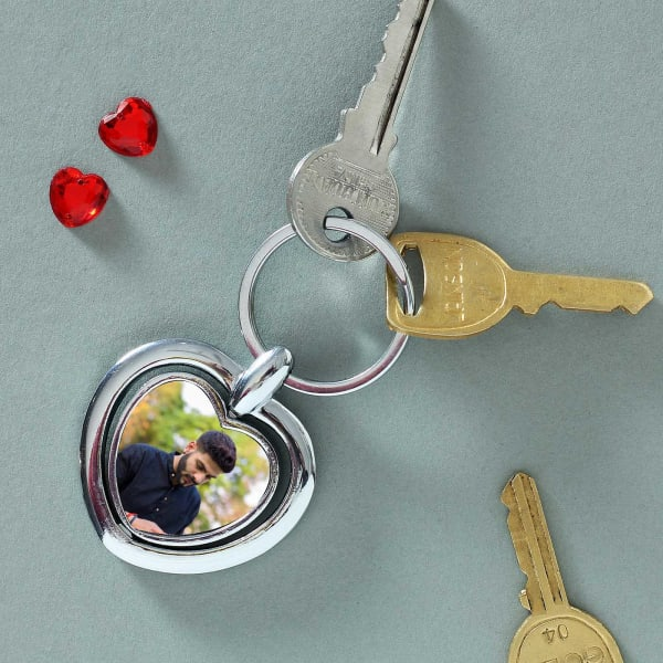 Personalized Heart-shaped Keychain