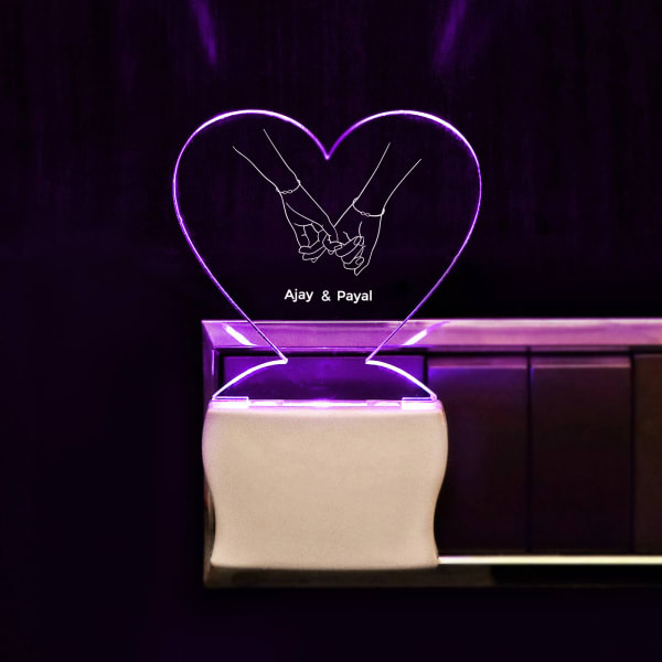 Personalized Heart Shaped LED Lamp