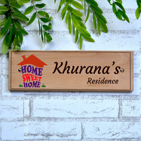 Personalized Home Sweet Home Name Plate