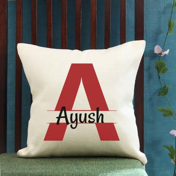 Personalized Initials Jute Cushion