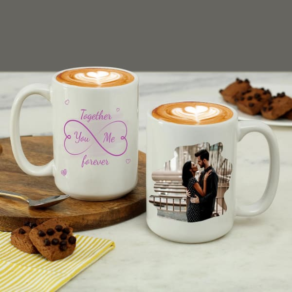 Personalized Large Coffee Mug Set
