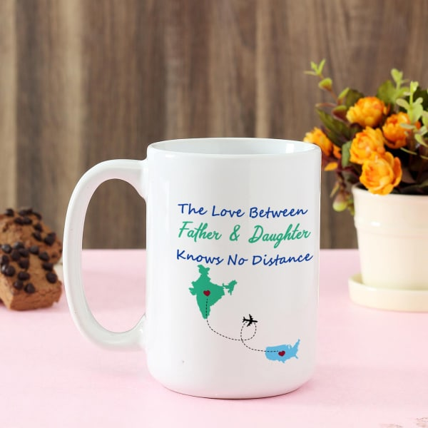 Personalized Large White Ceramic Mug For Dad