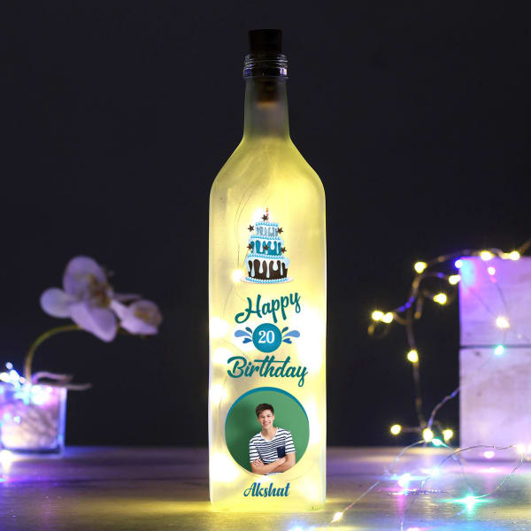 Personalized LED Bottle Lamp for Birthday
