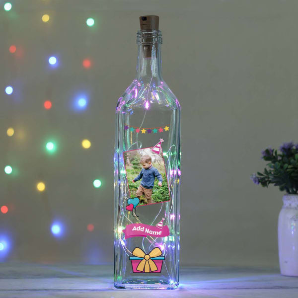Personalized LED Bottle Lamp for Boys