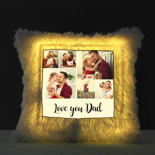Personalized LED Cushion for Daddy Dearest