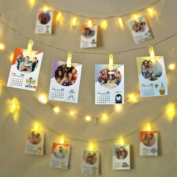 Personalized LED Photo Calendar for Birthday