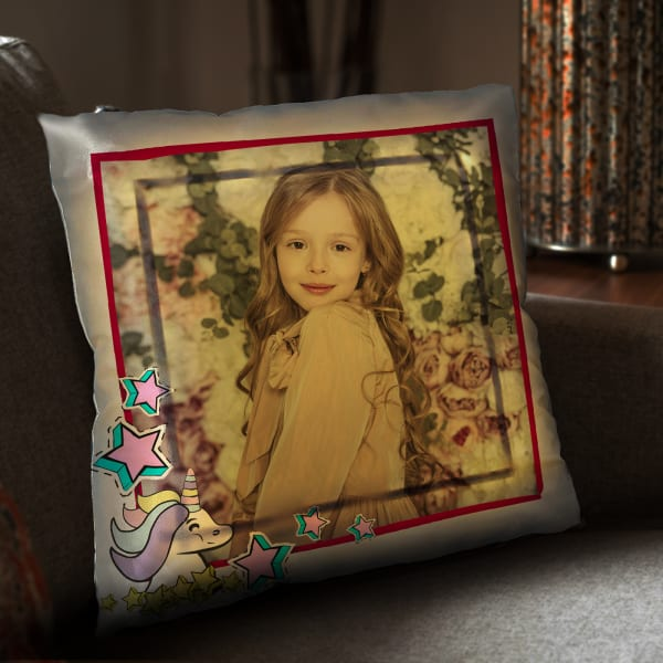 Personalized LED Pillow for Girl