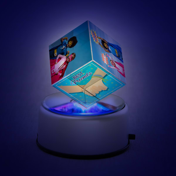 Personalized LED Rotating Crystal for Best Friends