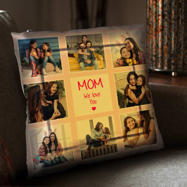 Personalized LED Satin Cushion for Mom