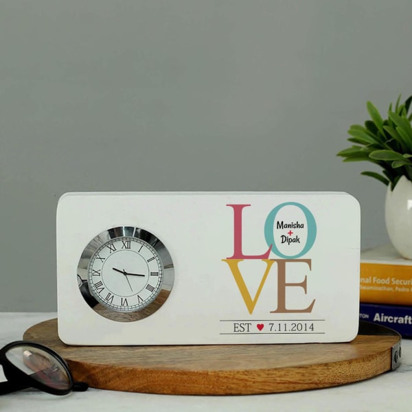 Personalized Love Table Clock