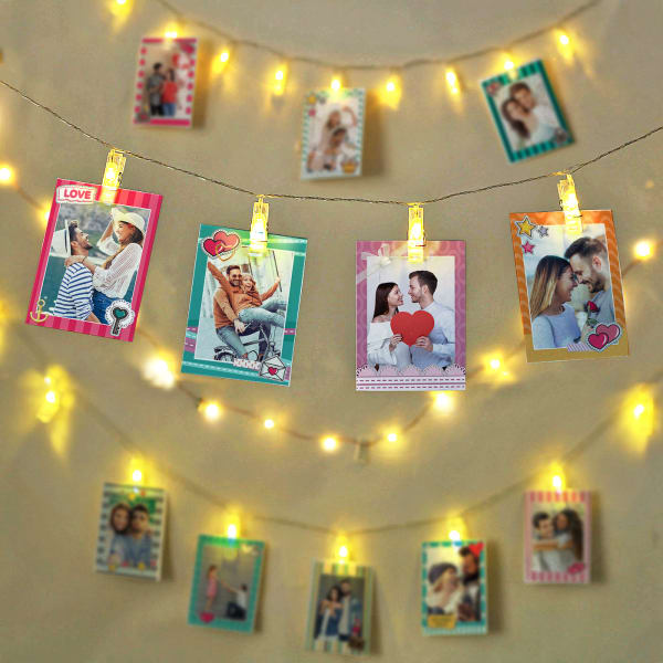 Personalized Love Themed Photo LED Wall Decor