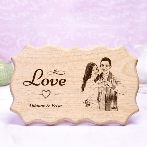 Personalized Love Wooden Photo Frame