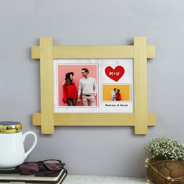 Personalized Lovers Romantic Photo Frame