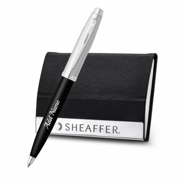 Personalized Luxury Pen and Business Card Holder Gift Set
